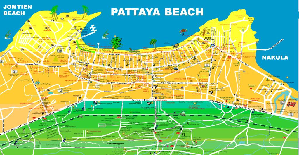 Карта Паттайи